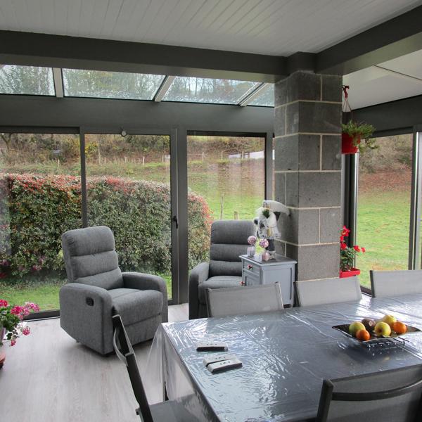 Map aurillac menuiserie aluminium professionnelle v randa - Baie vitree pour toiture ...